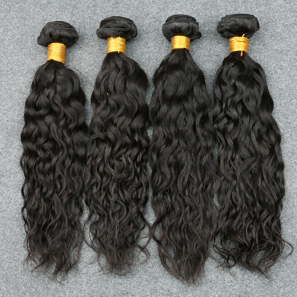 Brazilian Virgin Hair Bundle Deals Water Wave Brazilian Hair Weave Bundles 8A Unprocessed Cheap Brazilian Hair 4 Bundles<br><br>Aliexpress