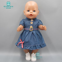 Ropa para muñecas encaja 43 cm muñeca bebé accesorios de vaquero vestido de  los niños para 3ca7828343e