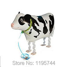50pcs/Lot, Free Shipping, Wholesale,Cow Pet Walking Animals Balloons  Helium Mylar Balloons, Baby's toy, Party Decoration. .