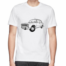Russia Lada car VAZ 2101 printed men t shirt great quality funny man hot t-shirt free shipping(China)