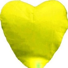 [ Fly Eagle ]Factory Direct 10pieces/Lot Yellow Love Heart Flying Sky Lanterns For Wedding Promotional Gift Free Shipping