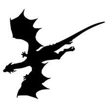 15.2*13.3CM Flying Dragon Silhouette Creative Car Stickers Vinyl Car Styling Decorative Decal Black/Silver C9-1386(China)