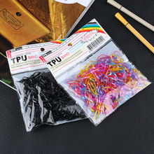 2018 Popular 300 PCS/Pack Rubber Rope Ponytail Holder Elastic Headband Hair Accessories Hair Bands Ties Braids Plaits Hair Clip(China)