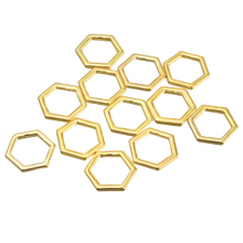 MJARTORIA Charm Honeycomb Pendants 40PCs Gold Color Geometrical Pendants For Bracelet & Necklace DIY Jewelry Making Supplies