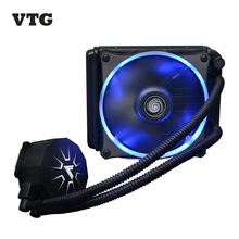 RU Stock VTG120 Liquid Freezer Water Cooler Liquid Cooling System CPU Cooler Fluid Dynamic Bearing 120mm Fan with Blue LED Light(China)