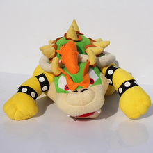 "1pcs Super Mario Bros Bowser Plush Toys 10"" Koopa Bowser Dragon Plush Doll Brothers Bowser JR Soft Toy Stuffed Animal Doll(China)"