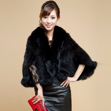 Real Fur Poncho Women's Winter Fashion Ladies Knitted Scarves With Fox Fur Luxury Coats Warm Genuine Mink Fur Shawls