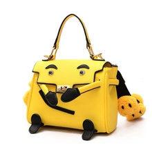 Cute Smiley Face Strap Cartoon Pu Leather Fashion Women s Handbag Shoulder  Bag Totes Female Crossbody Messenger cd1f8de422