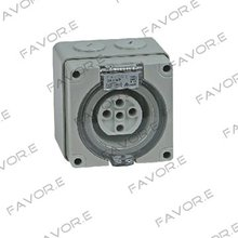 *20A three phase 5 round pin waterproof socket IP66 56SO520(China)