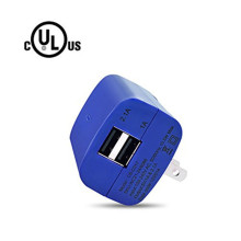 USB Quick Charger Dual Wall Adapter2 ports 2.1A US Plug for Apple iphone 7 6 5 Samsuang s8 s7 Lenovo HuaWei P9 P10 Xiaomi5 4C(China)