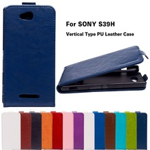 Solid Vertical Flip Leather Phone Case For Sony Xperia C2305 Case For Sony C2305 Xperia C S39h 5.0 inch Case Cover Housing Shell