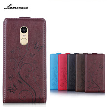 Lamocase Vertical Flip Case For Xiaomi Redmi Note 4 Case Cartoon Leather For Xiomi Redmi Note 4 Note4 Case Cover Card Slot Bag(China)