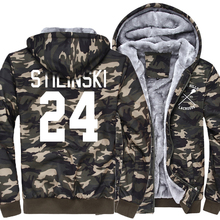 2017 new fashion TV Show Teen Wolf harajuku Teen 24 thick Army Ggreen Camouflage zipper hoodies swag tracksuit homme jacket pp(China)