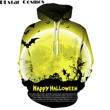 PLstar Cosmos Men's Long Sleeve Hoodies Ghost/black Cat/Cross/Happy Halloween Printed Sweat Shirts Hooded Male Outerwear(China)
