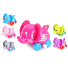 1pc Baby Funny Mini Toy Car Small Cartoon Animal Elephant Pig Crab Lion Mouse Modeling Toys for Kids Christmas Birthday Gifts(China)