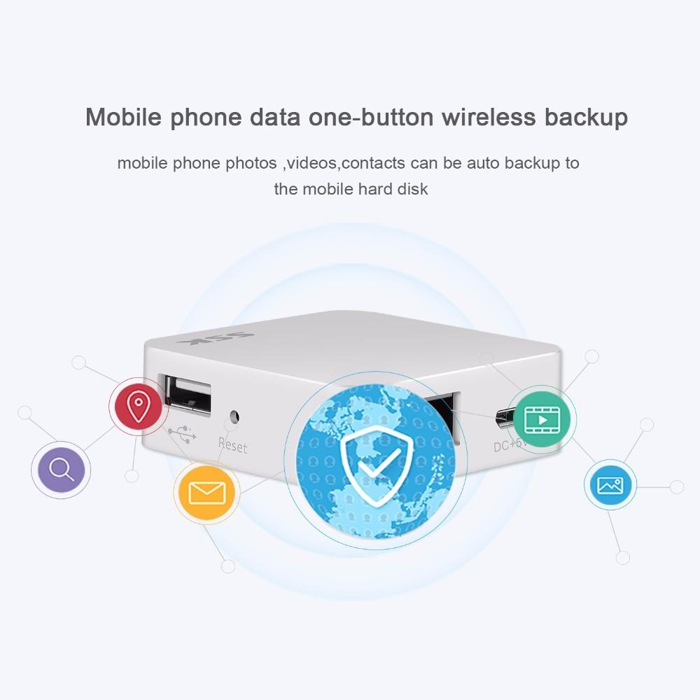 SSK SW001 WiFi External Hard Drive Smart Hard Disk Adapter Personal Cloud Storage Auto Backup Change Hard Drive Personal Cloud