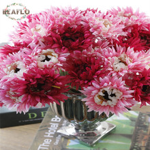 1Branch/7PCs DIY Fresh Artificial Chrysanthemum Silk Flower Fake plant for Wedding Home Party Decorative 3 Colors