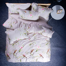 Cotton Home Textile bird 4pc Bedding Set Size for Twin Full Queen king Home Hotel Bed Linen Bed Sheets Duvet Cover Set