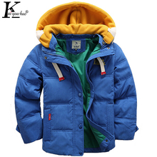 KEAIYOUHUO Winter Children Clothing Boy Coat Long Sleeve Jackets For Boys Down Baby Clothes Coats Kids Costume Hooded Outerwear