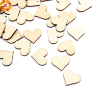 100PCS Plain Wood DIY Wooden Hearts&Star Embellishments Art Decor Scrapbooking Wedding DIY Crafts Christmas Party Decoration(China)