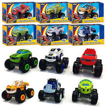 1pcs Russia Blaze 6 car toy 7.5cm Blaze storm Monster Machines Russian language Oppo bag package blaze miracle cars