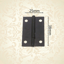 25*38mm 1.5 Inch Furniture Small Cabinet Drawer Door Mini Hinges Jewelry Wine Wooden Case Box Black Hinges For Gift Box(China)