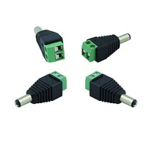10Pcs/lot 5.5/2.1mm DC Connector CCTV UTP Cable Power Plug Adapter Cable DC/AC 2/Camera Video Balun Connector