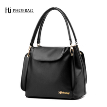 HJPHOEBAG Women Bucket Bag female Autumn summer Scrub Bucket Bags Women pu Handbags Ladies Shoulder Bag Zipper & Hasp bags Z-31(China)