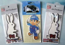 Free Shipping,Customized client logo any design Hanging car air freshener
