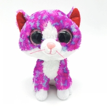 6'' ty Beanie Boos Plush Big Eye Series Cute Pink Cats doll cute plush toys 15cm stuffed toys