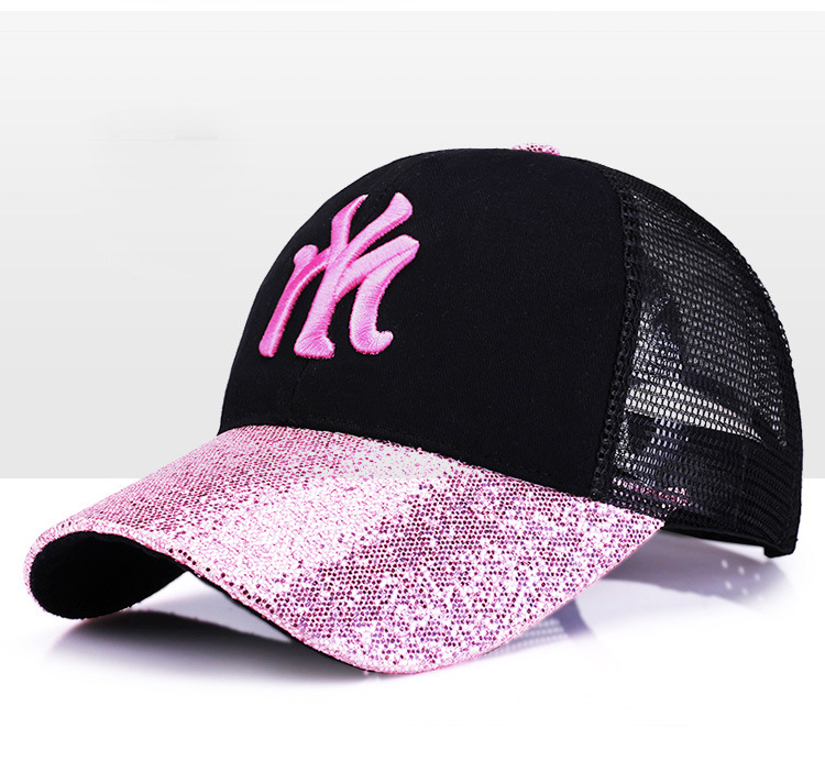 [Rancyword] 17 New Branded Baseball Caps Canada Women's Cap With Mesh Bone Hip Hop Lady Embroidery Hats Sequins RC1134 5