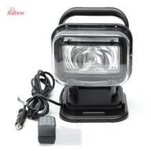 1Pcs 75W for HID Spot light  Spot light  Lamp Searchlight Boat Car Wireless Remote Control