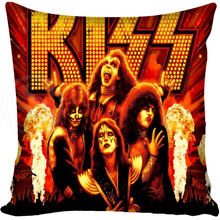G0309 Custom Square Pillowcase Kiss Music Rock Band Pillow Cover Zippered(China)