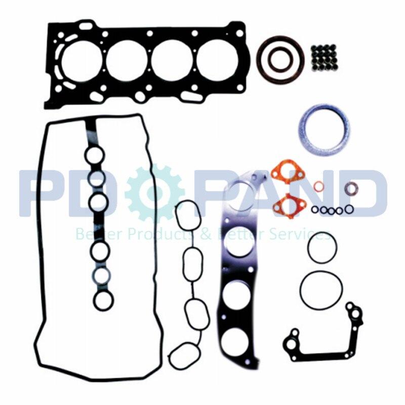 Overhaul Engine Rebuild Kit Fit 00-08 Toyota Chevrolet VVT-i 1.8 1ZZFE