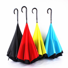 5pcs/lot Creative inverted handle umbrella Apollo full Sunny Rainy Creative ultraviolet-proof umbrella fashion gift
