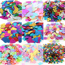 Mix Size Silver-Based Round Flat Sequins Paillettes Sewing On Trims for sequins dress Women Kids DIY Garment craft Decoration(China)