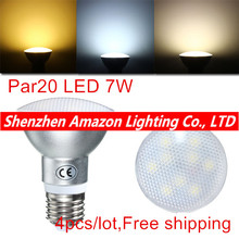 PAR20 7W Waterproof IP65 LED Spot Light Bulb Lamp Indoor Lighting Dimmable AC85-265V