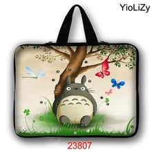 Totoro print 7 10 12 13 14 15 17 Laptop Bag tablet Case 7.9 9.7 11.6 13.3 14.4 15.4 15.6 17.3 Notebook sleeve PC cover LB-23807(China)
