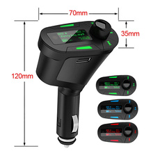 Car Kit FM Transmitter  Digital MP3 Player Music Radio Modulator Red Blue Green Color USB Charger Rechargeable MAX 32GB SD Card