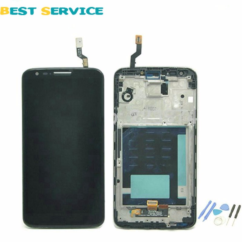 100% New For LG Optimus G2 D802 LCD Display and Touch Screen Digitizer Assembly With Frame Black White + Tools Free Shipping<br><br>Aliexpress