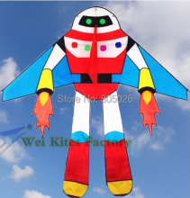 free shipping high quality robot kite Planet soldiers flying with handle line child love Astronaut outdoor toys wei kites(China)