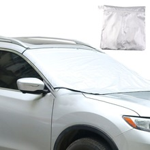 Magnet Window Foils Windshield Sun Shade Car Visor Cover Block Front Window Sunshade UV Protect Car Window Film 210*120cm(China)