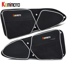KEMiMOTO for Can-Am Commander 1000 4x4 for Polaris RZR XP 1000 EPS UTV Passenger Driver Side Door Bag Side Storage Bag Knee Pad(China)