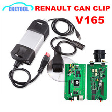 Renault Vehicle Diagnosis Tool CAN Clip Tester New V165 Renault Can Clip Green PCB Board Powerful Auto Interface Renault Clip