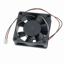 "Gdstime Lot 2 pieces 2.36"" 2 PIN PLUG Brushless DC Fan 7 Blade 12V 60mm x 60mm x 20mm NEW 6020S 60 20"