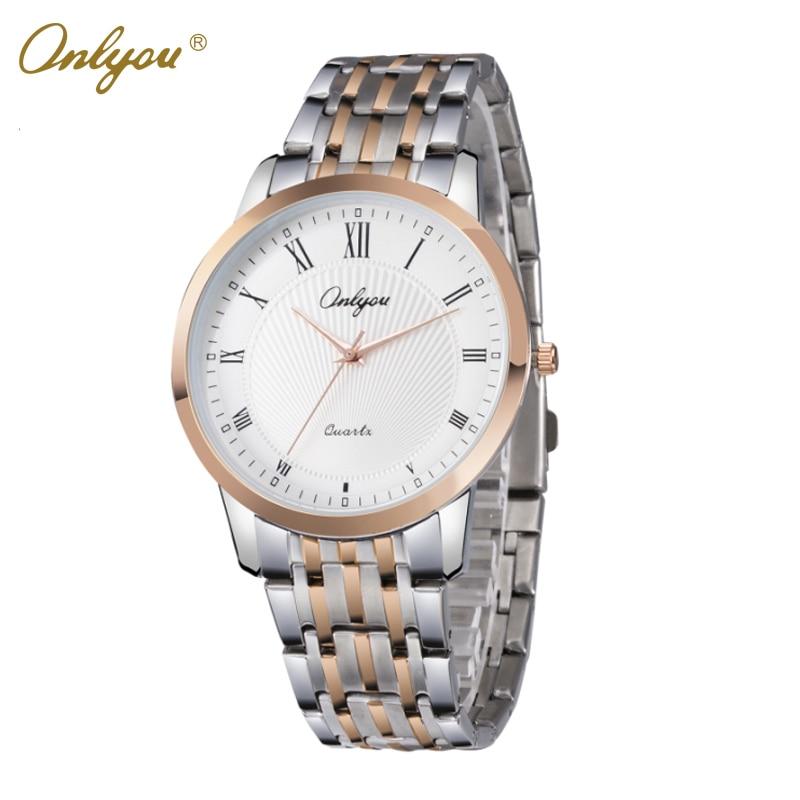 Onlyou Brand Luxury Watches Women Men Business Quartz Watch Stainless Steel Watchband  Ladies Dress Watch Clock Boss Watch 8886<br>