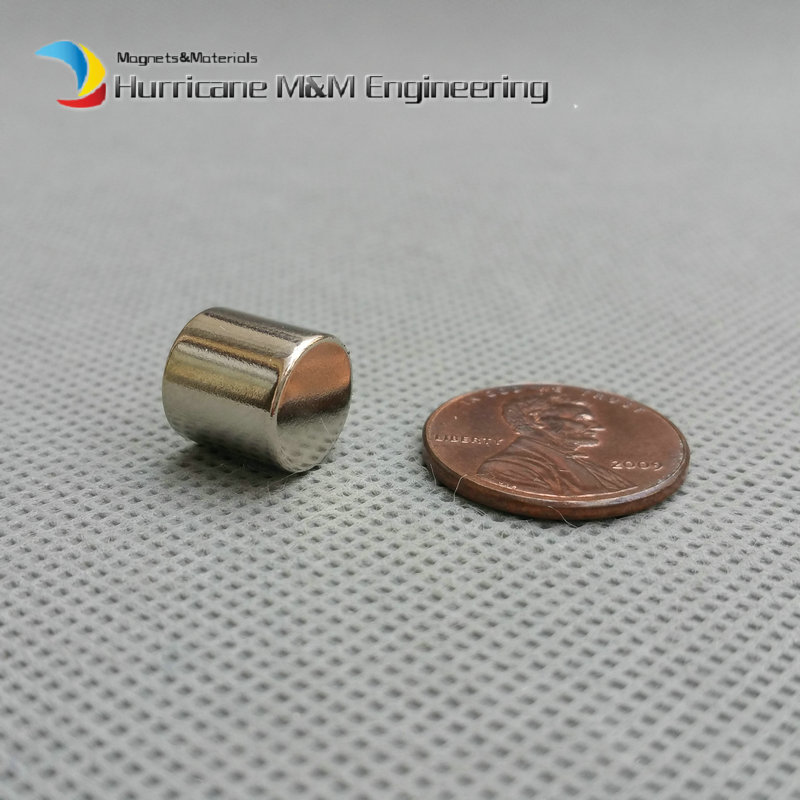 1 pack Dia. 10x10 mm Filter magnet NdFeB Disc Magnet rod Neodymium Magnets Grade N35 NiCuNi Plated Axially Magnetized<br>