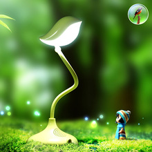 Creative Cute Bird table lamp Dimmable 360 Degree Adjustment With USB DC5V 500MA Lithium Battery Desk Light(China)