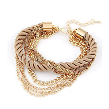 TOMTOSH 2016 NEW Fashion Design Girl Jewelry Handmade Rope Chain Decoration Bracelet Charm Bangle Wholesale