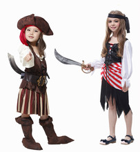 Children's Halloween Party Outfit Dress Cosplay Costumes Girls Pirate Costume Kids Pirate Cosplay Game Uniforms